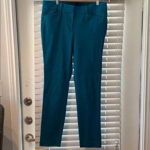 Loft Marisa skinny ankle pants 10 tall aqua blue